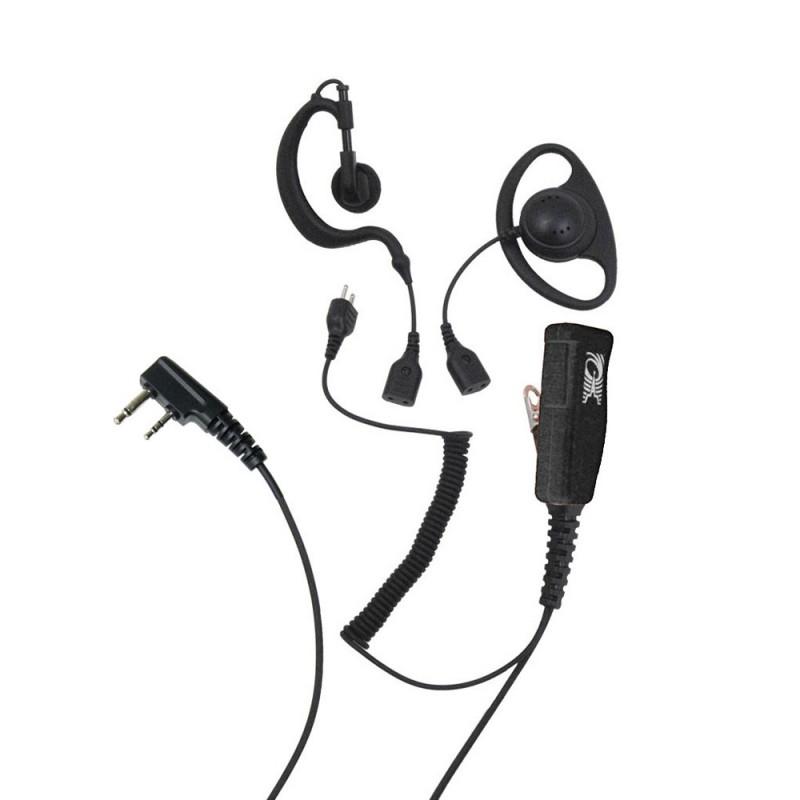 ProEquip PRO-U600L Headset 3-i-1 Svart PTT