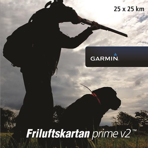 Garmin Friluftskartan Prime V2 Voucher 25×25 km