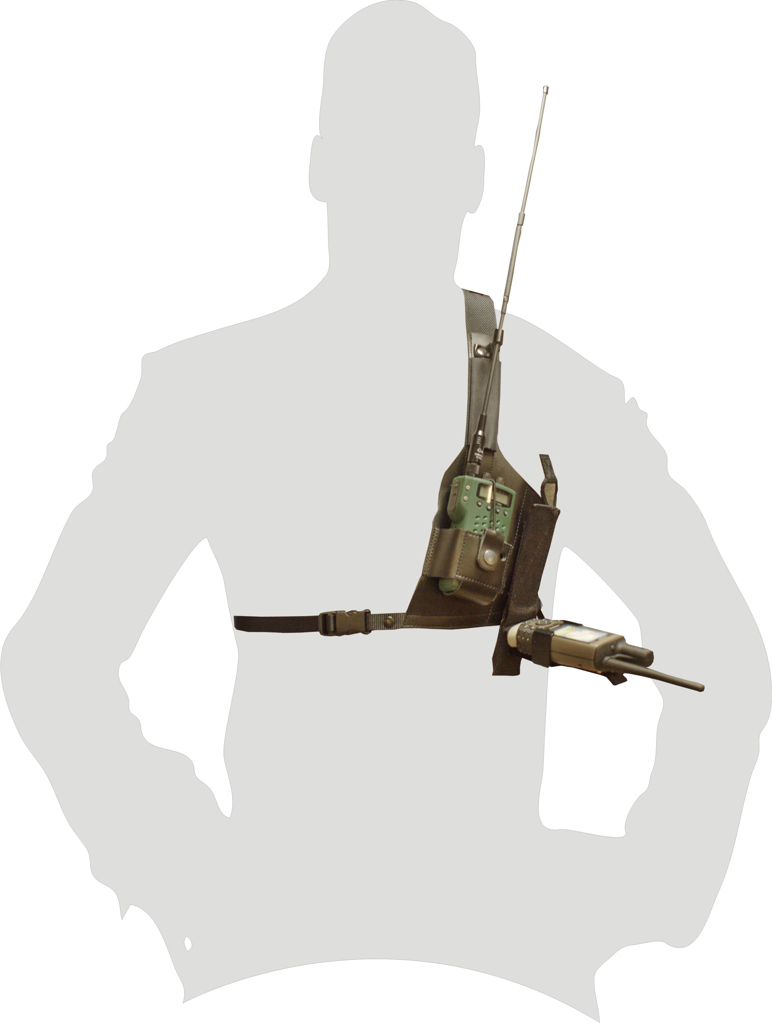 Räckviddssele med fäste för vikbar GPS-Hållare