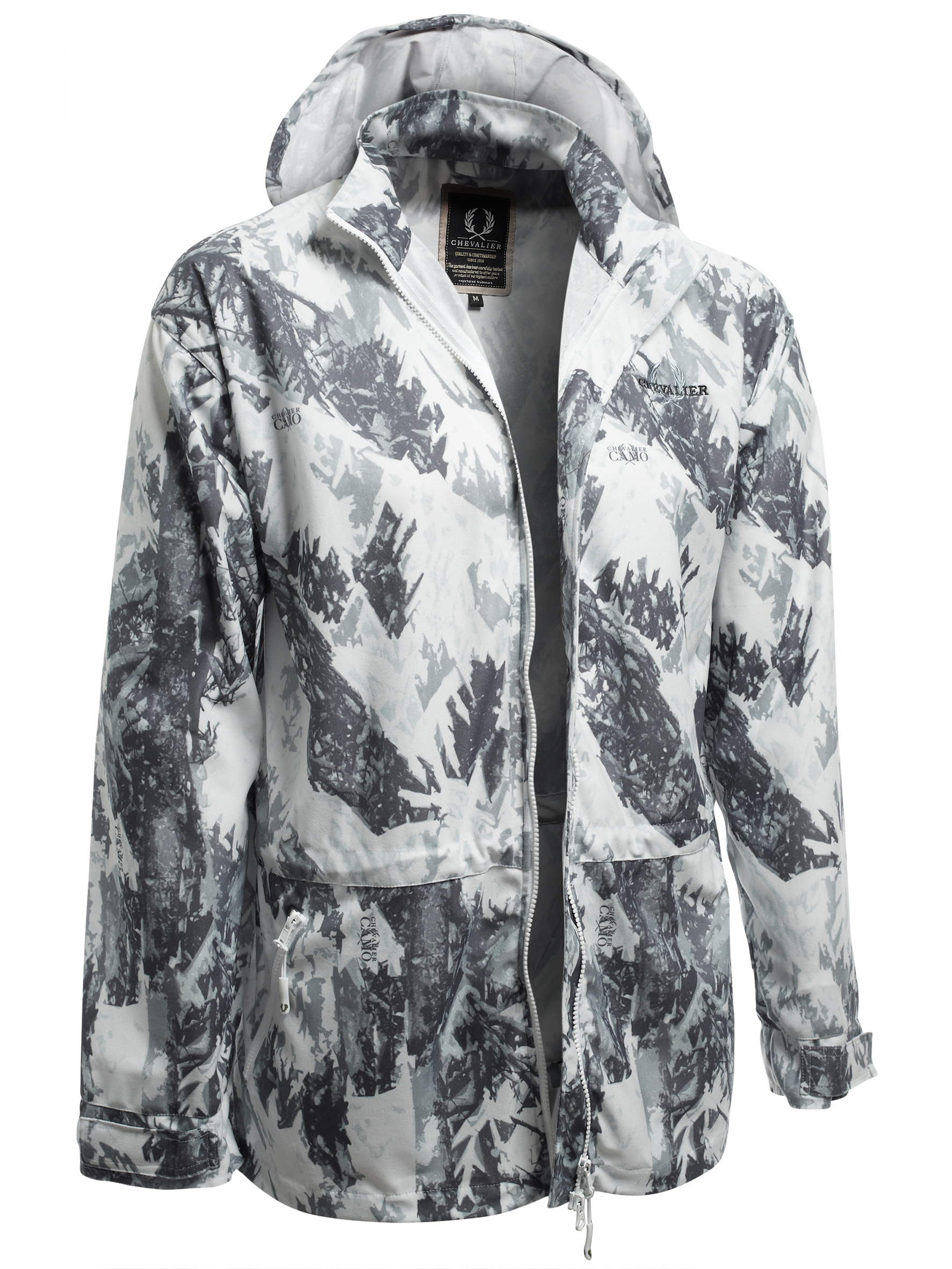 Jacka Chevalier Snow Camo Cover Coat