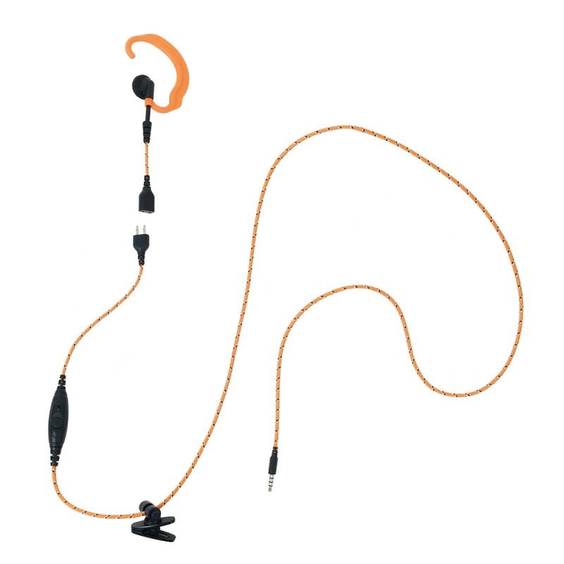 ProEquip PRO-U410 Telefonheadset med tygkabel och Peltoranslutning