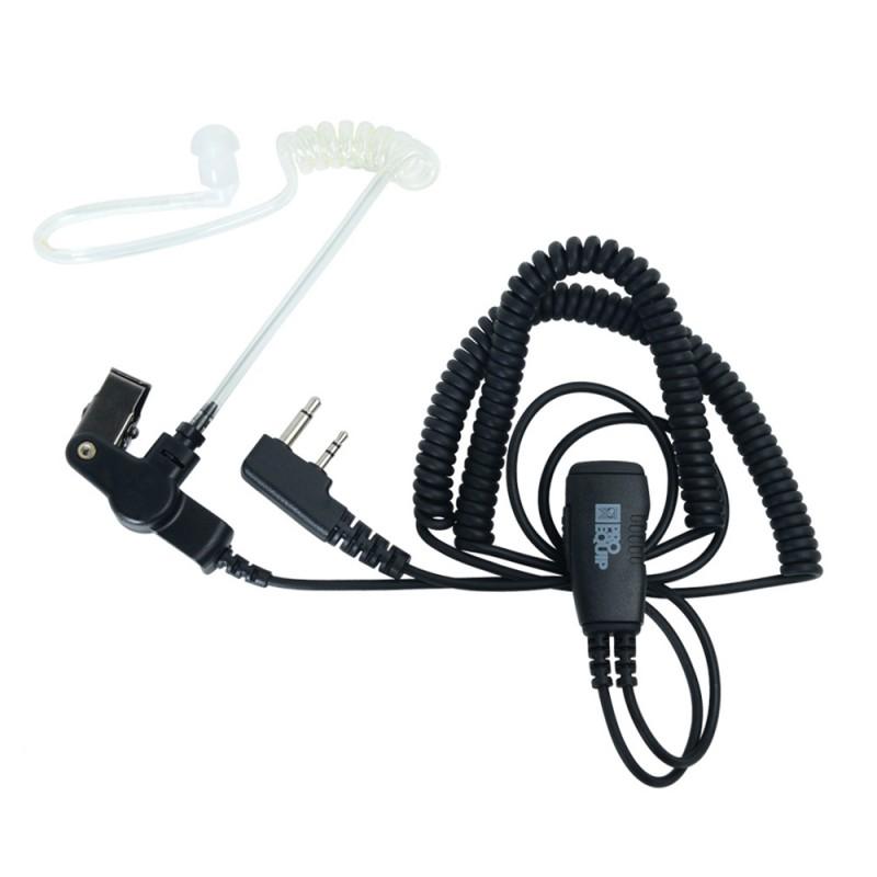 PRO-P180L Mini PTT öronsnäcka med akustisk lufttub - dubbelkontakt