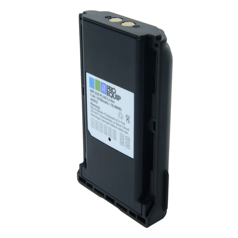 Icom Batteri IBP-232 Plus 74V 2700mAh Li-ion